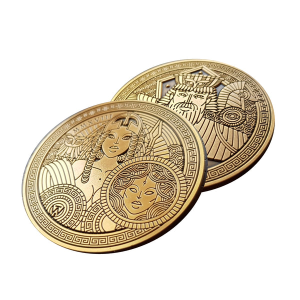 Odissea Saggezza Coin by Thirdway Industries Playing Cards in Display Case