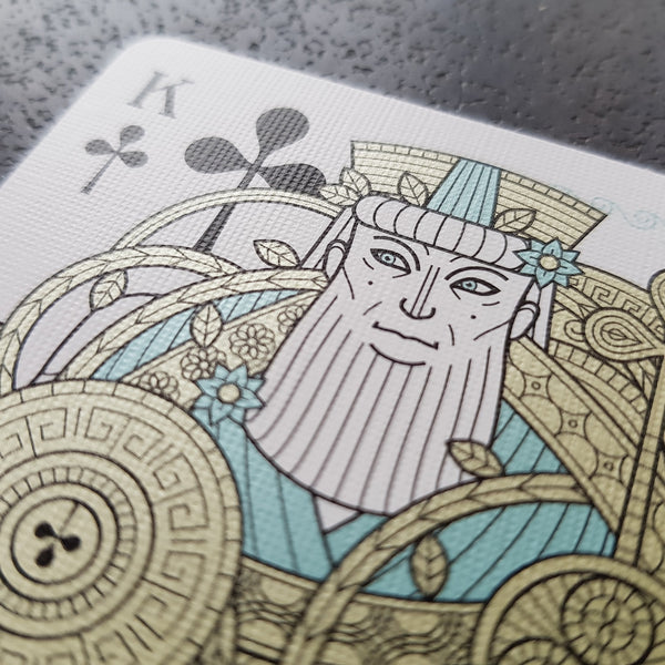 Odissea Minerva Playing Cards by Thirdway Italy Metallic Inks