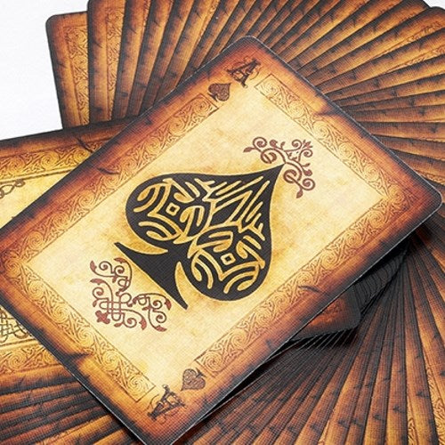 Old Parchment Playing Cards Deck Vintage Paper style
