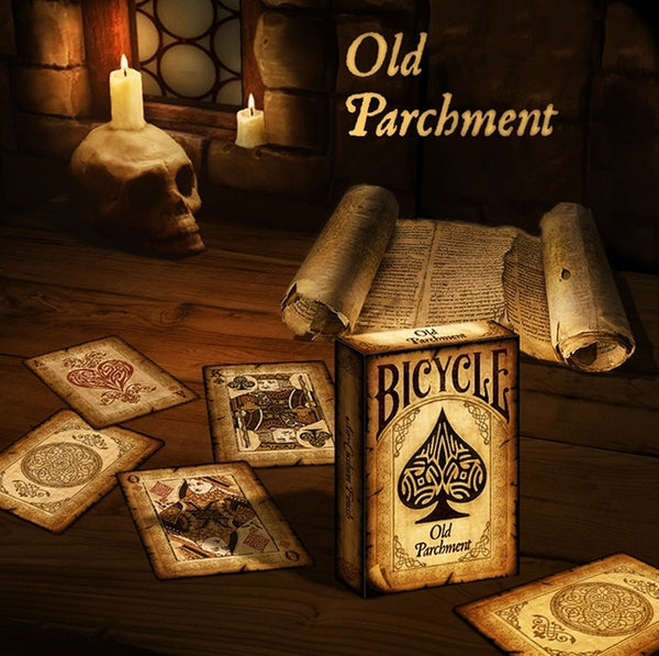 Buyworthy:Old Parchment Playing Cards Vintage Paper Look Brand New & Sealed Made in USA