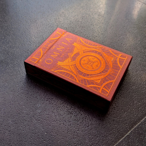 Omnia Antica Playing Cards Bronze Embossed Tuck Case