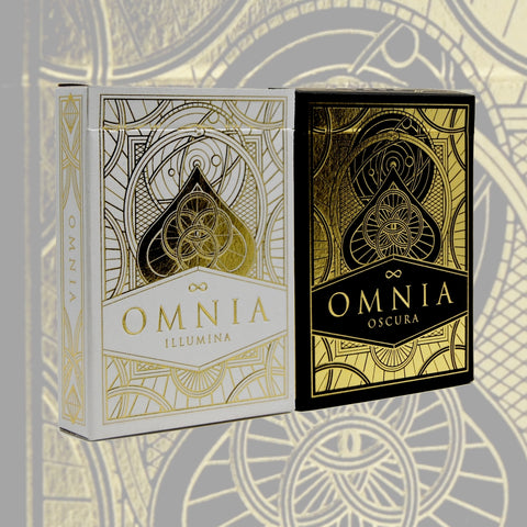 Omnia Illumina Oscura Playing Cards Gold  2 Deck Set