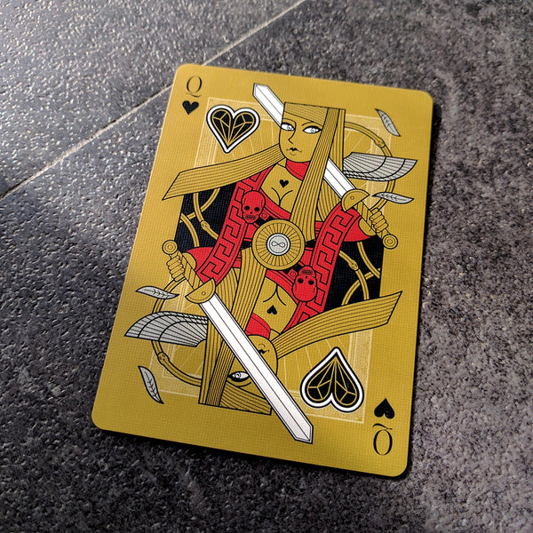 Omnia Oscura Playing Cards Gold Embossed Tuck Case