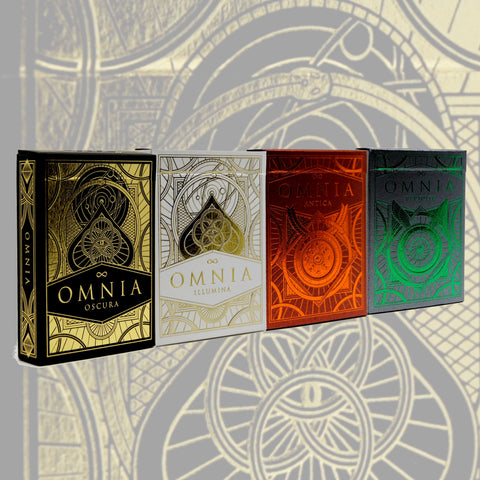 Omnia Playing Cards Set Oscura Illumina Antica Perduta 4 Decks