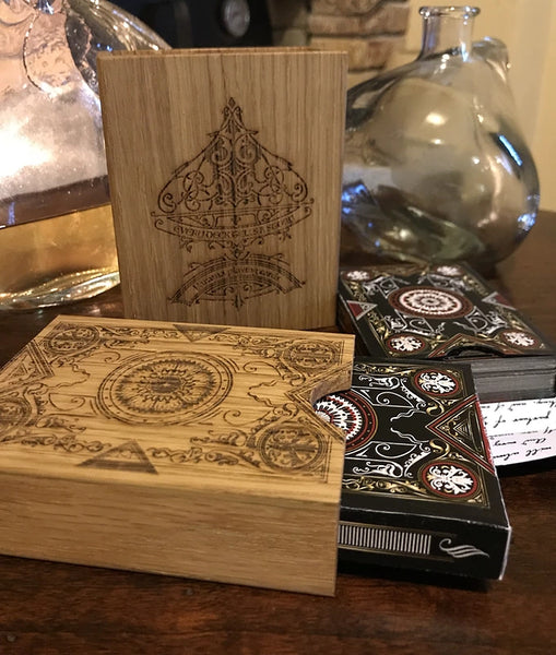 Oris Playing Cards Collectors Rare Engraved Luxury Wooden Box Edition