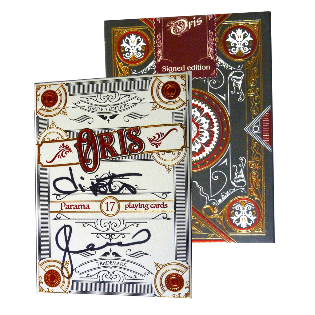 Oris Playing Cards Collectors Limited Edition Rare Signed Version