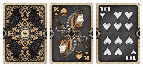 Buyworthy:Ornate Obsidian Playing Cards RARE Premium Deck Gold Foil Embossed case