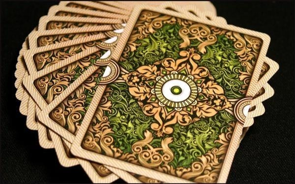 Ornate Playing Cards Emerald Unbranded Green White Edition deck (90% Off)