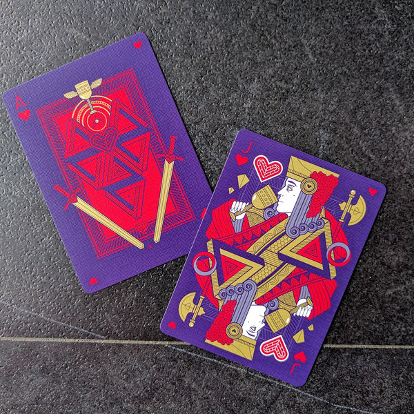 Pantheon Playing Cards Luxury Gold Foil on Every Card Rare deck