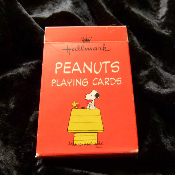 Peanuts Playing Cards Vintage 1960s Hallmark Rare Deck made in USA used