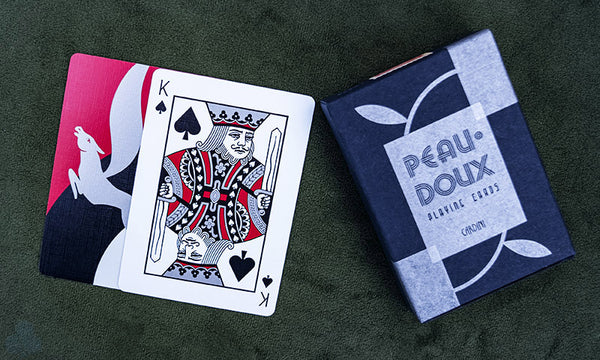 Peau Doux Silver Playing Cards Cardini Deck by Art of Play