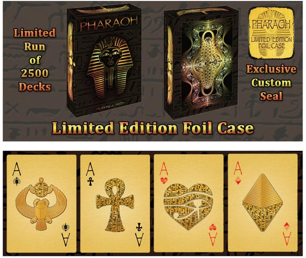 Buyworthy:Pharaoh Playing Cards Limited Edition Foil Case Deck Ancient Egypt Made in USA