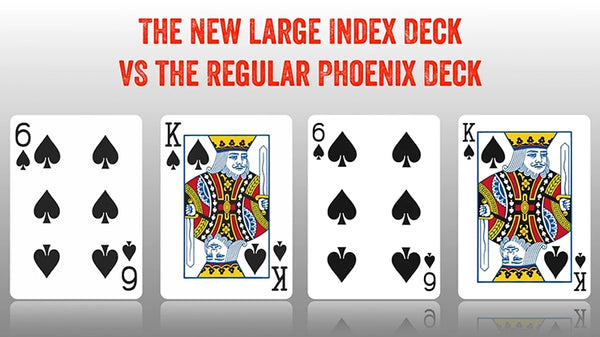 Phoenix Playing Cards Red  Parlour Edition Large Index deck by Card Shark