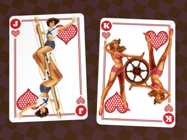 Buyworthy:Pin-Up Sexy Playing Cards Vintage Hot Girls Poker Deck Brand New & Sealed