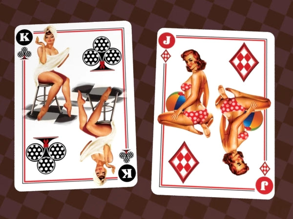 Playing Card Gift Set Sexy Pinup Playboy Striptease 3 Decks