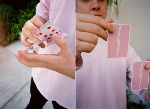 Fontaine Pink Playing Cards Supreme Back Rare Deck by Zach Mueller