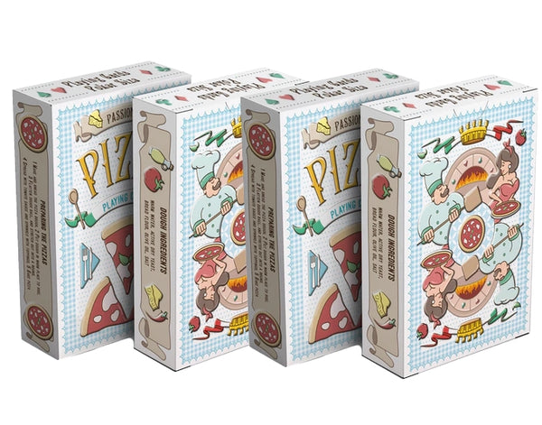 Passione's Pizza Playing Cards by Passione Italy Collectors Boxset 4-Decks