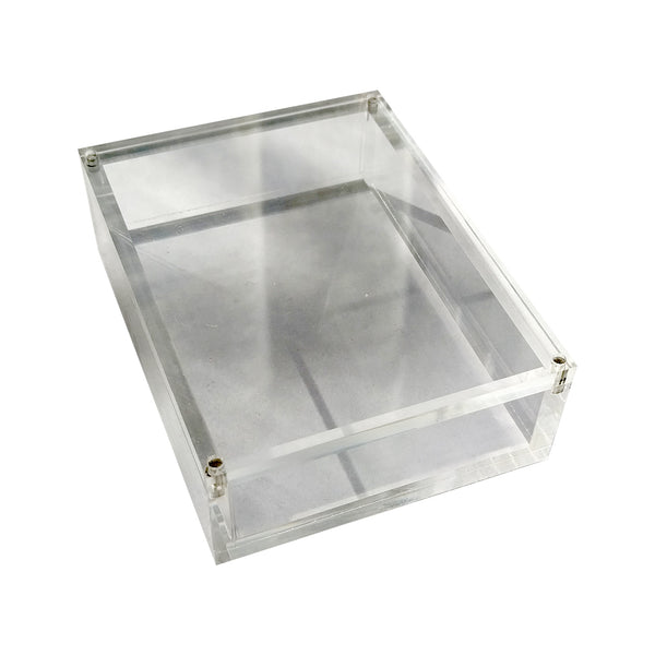 Playing Card Carat Case Strong Acrylic ~ Holds 1 deck ~ 3 PACK DEAL