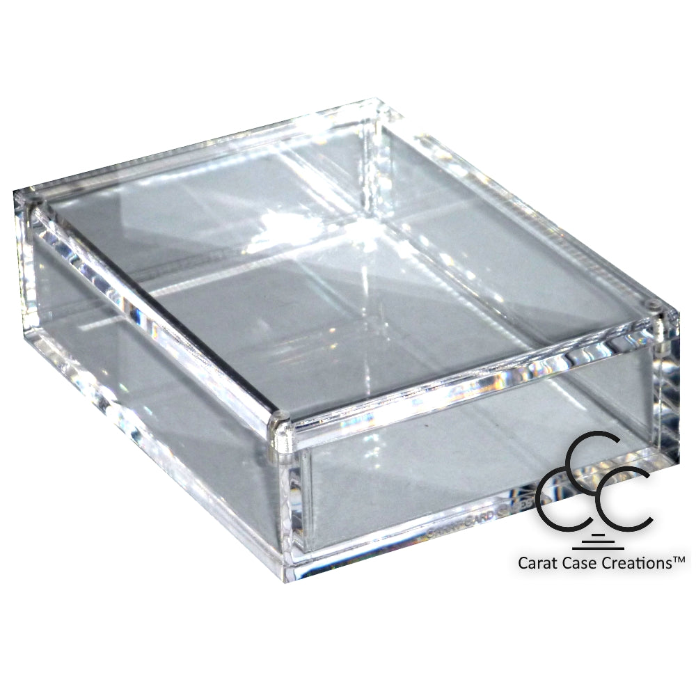 Playing Card Carat case Empty Box Clear Acrylic Magnet ~ Holds 1 deck