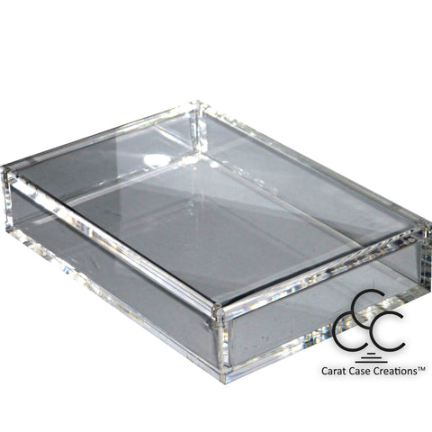 Playing Card Carat Case Empty Clear Strong Acrylic ~ Holds 2 Decks