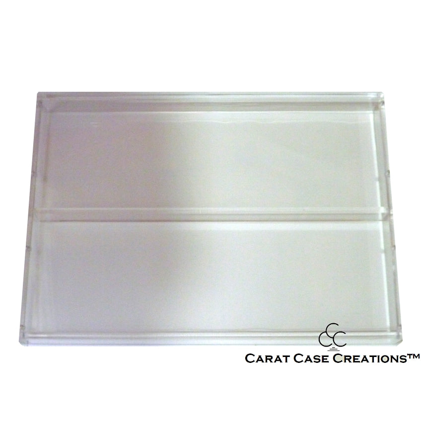Playing Card Carat Case Empty Clear Strong Acrylic ~ Holds 8 Decks