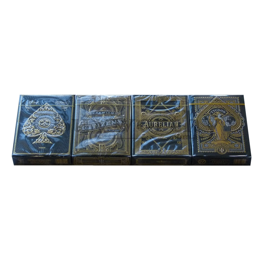 Playing Card Gift Set Gold Artisan Citizens Aurelian Tycoon 4 Decks