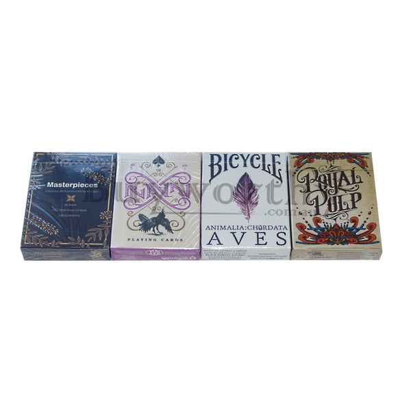 Playing Card Gift Set Masterpieces RAVN AVES Royal Pulp 4 Decks