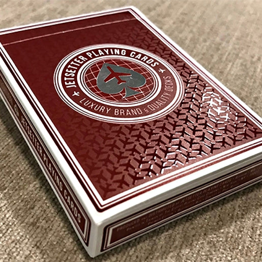 Jetsetter Playing Cards Restricted Red Premier Edition deck