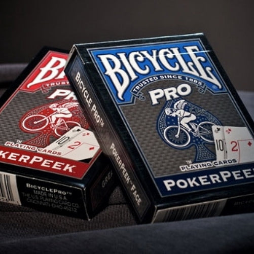 Pro Peek Poker Playing Cards Deck Bicycle Blue & Red