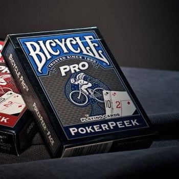 Pro Peek Poker Playing Cards Deck Bicycle Professional Brand New ~ Blue