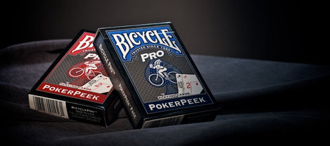 Pro Peek Poker Playing Cards Deck Bicycle Blue & Red Professional ~ 2 Deck Set