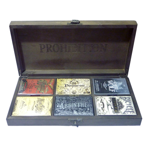 Prohibition Playing Cards Boxset Rare V1 Ellusionist 6-Deck 1st Editions Collection