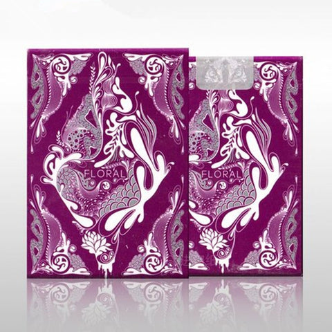 Floral Playing Cards Purple Edition deck by Aloys Design Studio