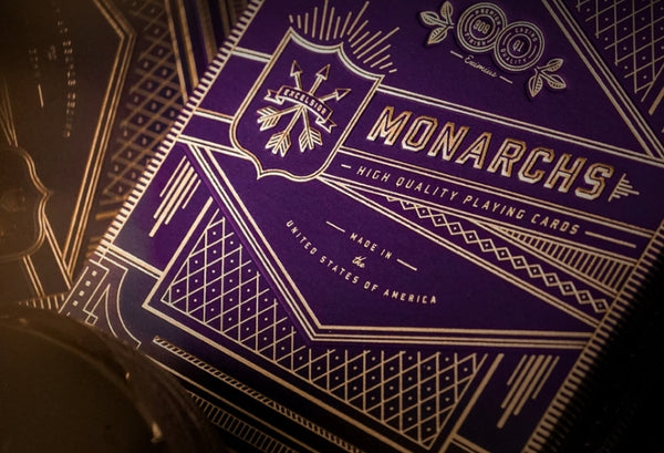 Purple Monarchs Playing Cards Monarch Royal Edition in-Stock 3-Deck Set