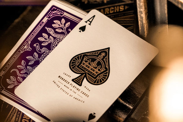 Purple Monarchs Playing Cards Monarch Royal Edition by Theory 11