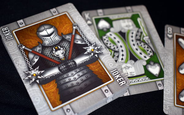 Rage & Fury Knight Playing Cards Medieval ~ 2 Decks 1 Coins Set