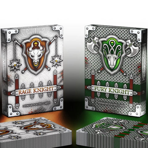 Rage & Fury Knight Playing Cards Medieval ~ 2 Decks in Shining Armour