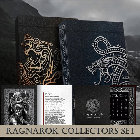 Ragnarok Playing Cards Collectors Set ~ 2 Decks + Booklet + Alphabet