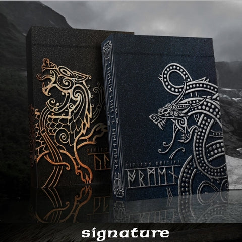 Ragnarok Playing Cards Jormungand & Fenris ~ 2 Decks Signed by Artist
