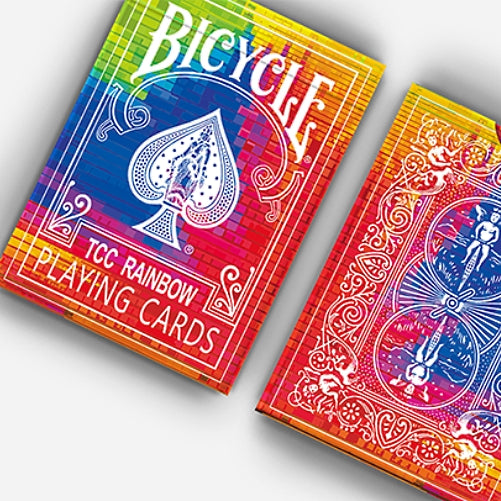 Rainbow Playing Cards Bicycle Deck by TCC made in USA