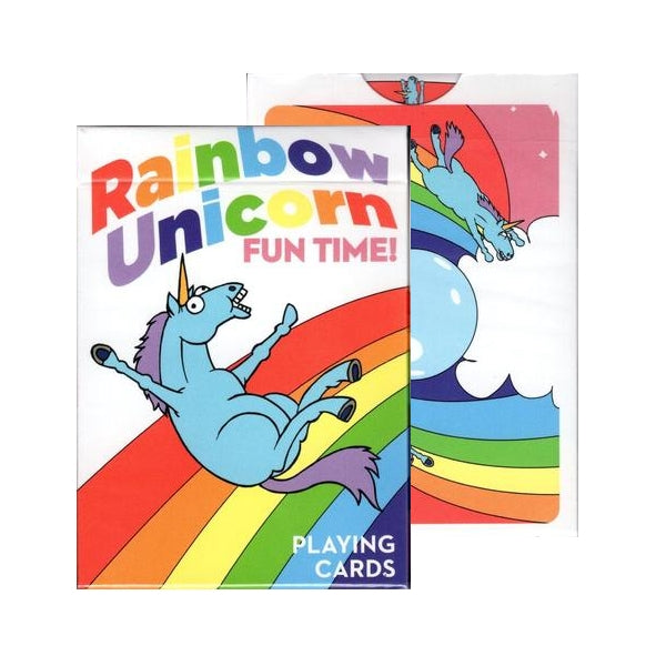 Rainbow Unicorn Playing Cards Fun Time! Special Edition by Handlordz