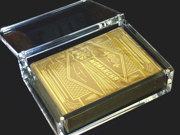 Gold Monarchs Playing Cards Luxury Rare deck including Acrylic Case