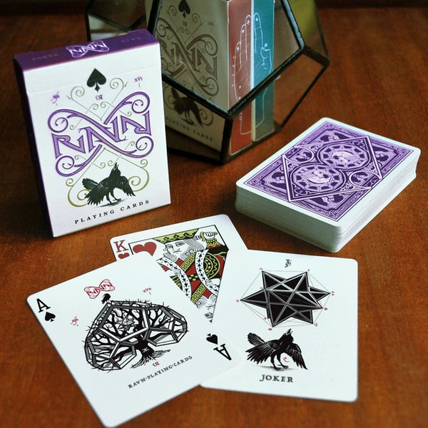 RAVN Purple Haze Playing Cards deck in a Glass Bottle Rare Magic Collectors AIP