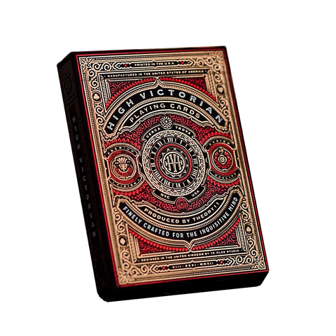 Red High Victorian Playing Cards by Theory 11 Rare  Luxury Limited Edition