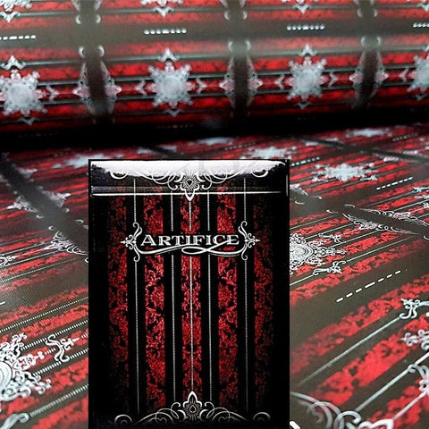 Red Artifice Playing Cards ~ Very Rare Collectors Deck Ellusionist + Uncut Sheet