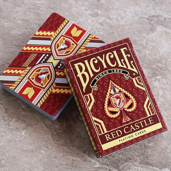 Buyworthy:Red Castle Playing Cards Poker Magic Deck Made in the USA Brand New & Sealed
