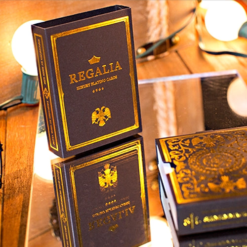 Regalia Playing Cards Luxury Limited Edition Deck Gold foiled cards – Buyworthy