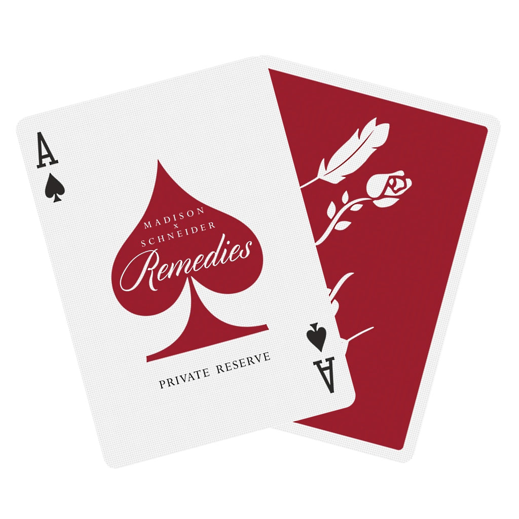 Remedies Private Reserve Playing Cards by Daniel Madison x Daniel Schneider
