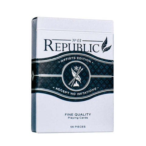 Republic No 3 Playing Cards Artists Edition Black by Jeremy Griffith