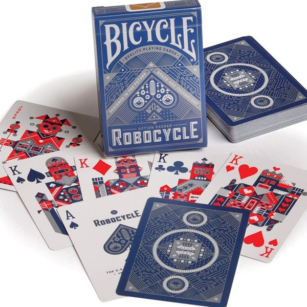 RoboCycle Playing Cards Robotic Poker Deck Blue Edition Bicycle